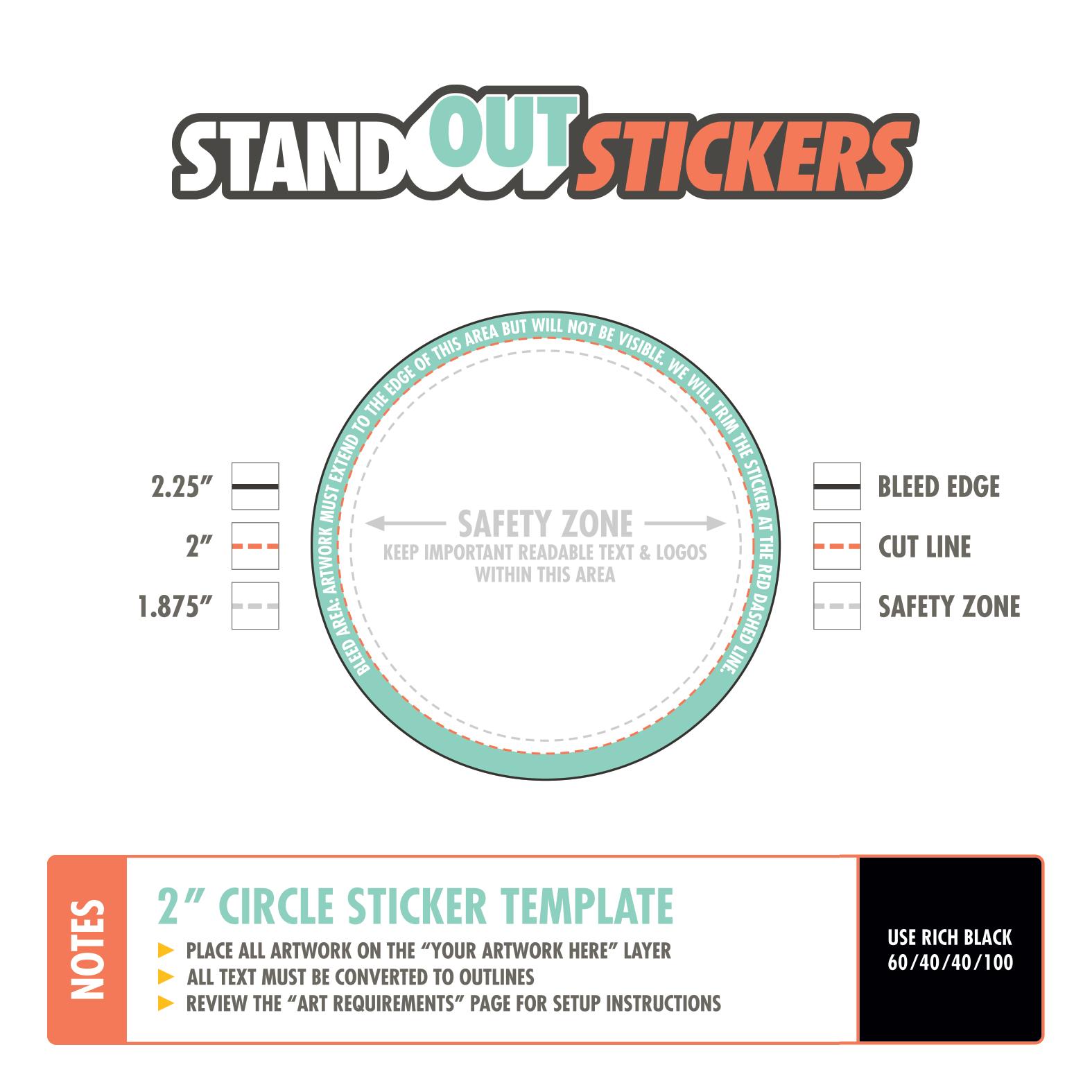 StandOut Stickers Logo - PaleBird